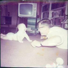 Dad and Baby Devon